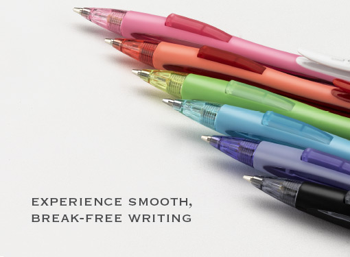 Experience smooth break free writing
